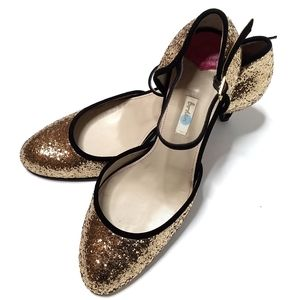 NWOT Boden Glitter Mary Jane Heel